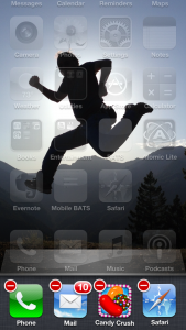 iPhone screen capture to show running apps