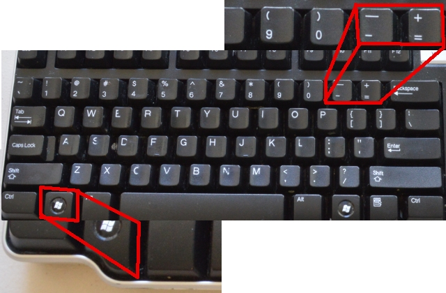 Windows Key + (Plus or Minus)
